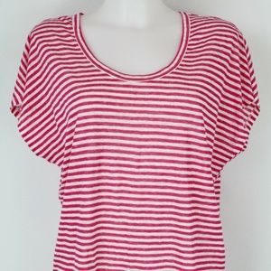 Joie Pink Striped Short Sleeve Top Size XS